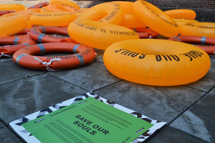 'Save Our Souls', een studentenproject dat de moeilijke immigratiepolitiek in beeld brengt.