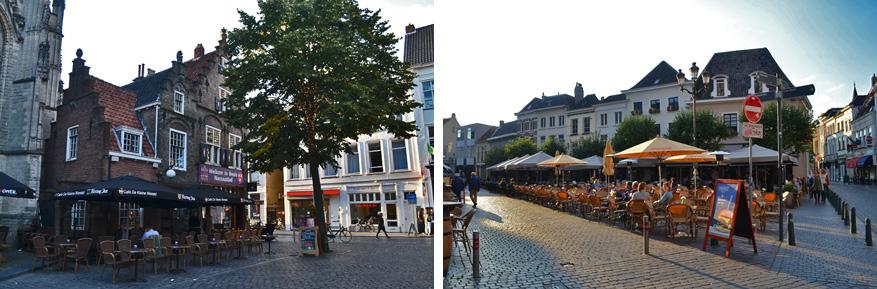 De binnenstad van Breda bruist van de gezellige terrassen.