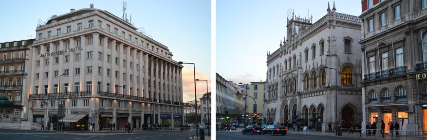 Overnachten deden we vier dagen in Altis Avenida Hotel dat vlak tegenover het Centraal station van Lissabon ligt, eveneens een architecturaal pareltje!