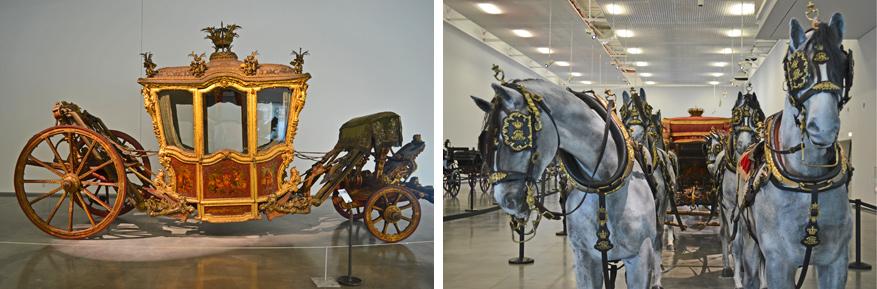 In het Museu Nacional dos Coches stelt men koetsen uit de 16de tot 19de eeuw tentoon.