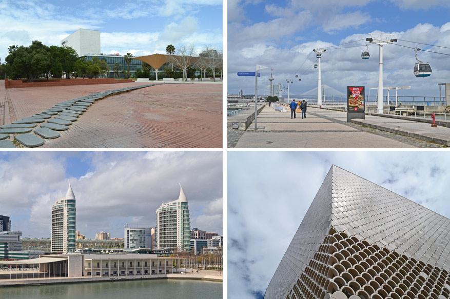 De strakke en moderne architectuur komt tot zijn recht in de buitenwijk Parque das Nações.