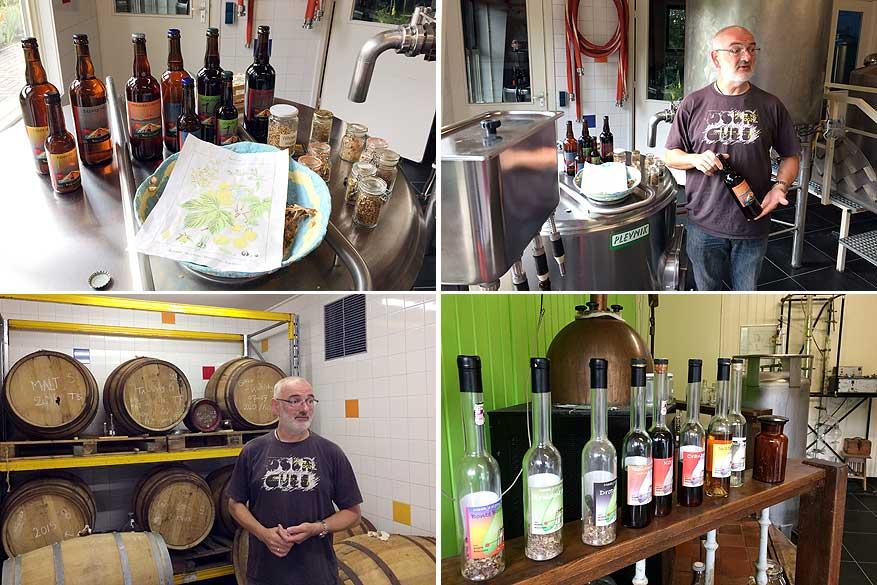 Huidbrouwer John gidst me door de ambachtelijke brouwerij en distillerie.