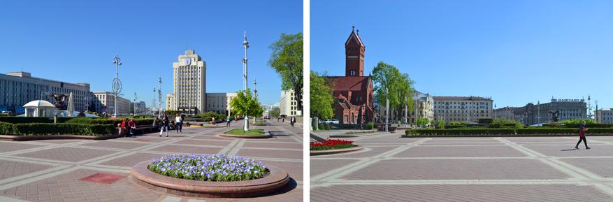De uitgestrektheid van Independence Square is enorm.