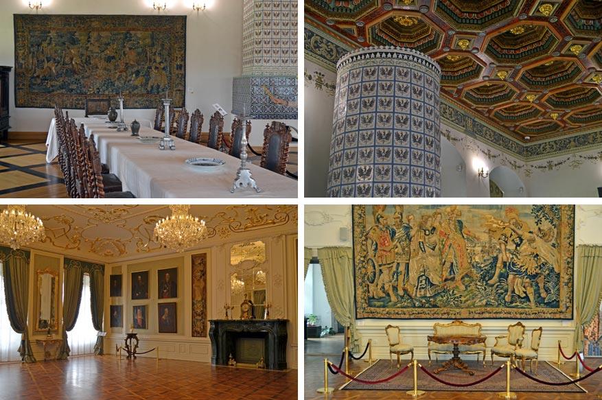 De luxueuze kamers van Mir Castle.