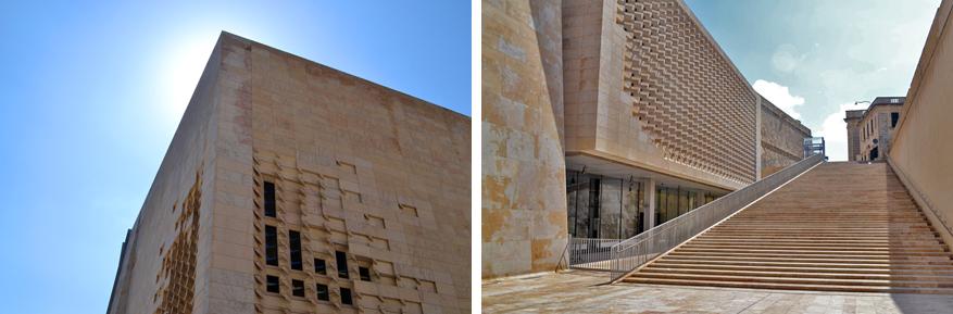 De architecten van AP slaagden erin een heel nieuw en modern parlementsgebouw af te leveren aan de stad.
