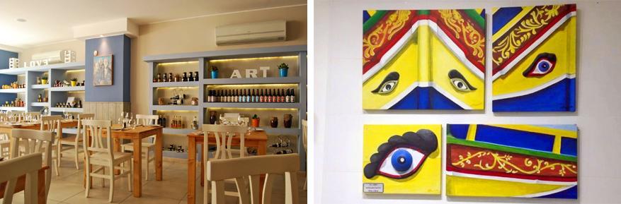 Lekker eten en kunst kijken kan in Two Buoys Bistro. © Facebook Two Buoys Bistro