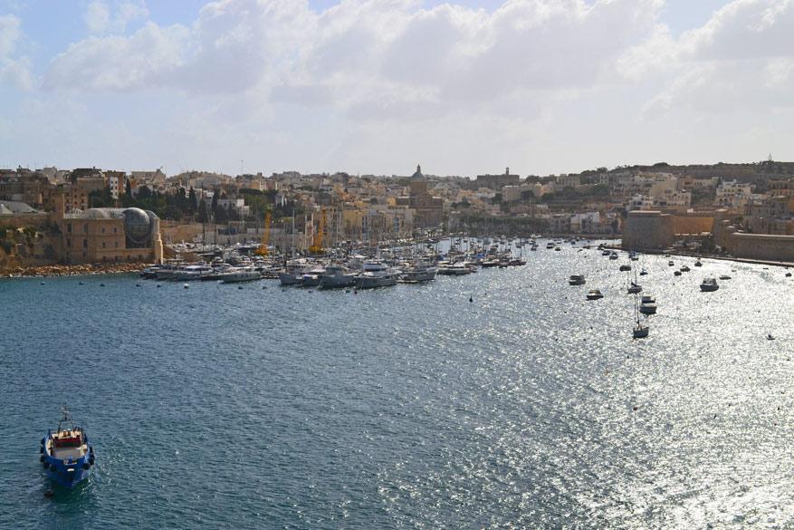 Uitzicht op de Grand Harbour.
