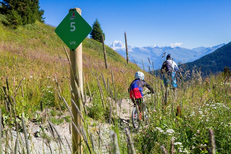 La Plagne leent zich uitstekend voor uitdagende fietsroutes.